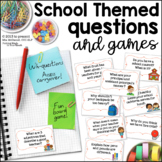 WH- Question Games for Back to School