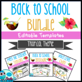 Back to School - Tropical Themed Bundle