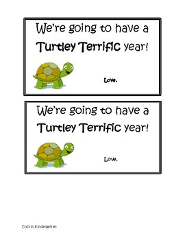 Back to School Turtle Tags