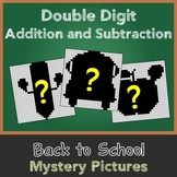 Back to School Two Digit Addition and Subtraction Mystery Pictures