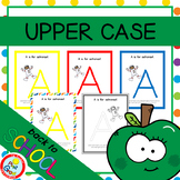 UPPER CASE Posters with Coloring Pages - RED (pdf and png)