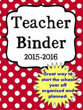 Back to School Ultimate Teacher Binder in RED Preview FREEBIE