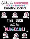Back to School Unicorn Door Display or Bulletin Board