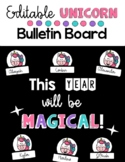 Back to School Unicorn Door Display or Bulletin Board