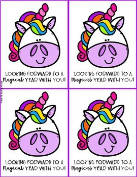 Back to School Unicorn Printable