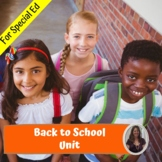 Back to School Unit for Special Education