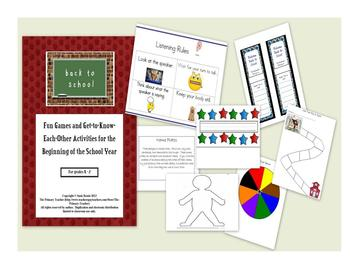 Back to School Unit: Fun Games and Get-To-Know-Each-Other Activities