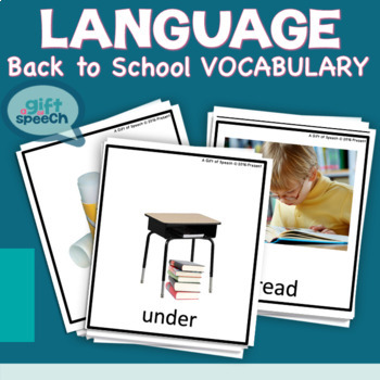Back to School Unit Moderate Severe Speech Therapy Special Education