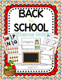 Back to School Unit--Updated 8/2013