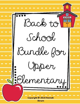 Back to School GROWING Bundle for Upper Elementary