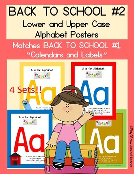 "Back to School Upper and Lower Case Posters (Matches all ""Back to School"")"