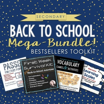 Back to School VALUE BUNDLE: Secondary Bestsellers