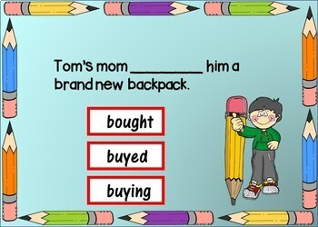 Back to School VERBS Boom Cards - 24 Self-Checking Cards!