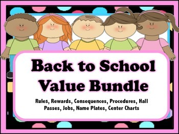 Back to School Value Bundle - Plates, Rules, Jobs, Centers