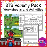 Back to School Worksheets and Activities Including Distanc