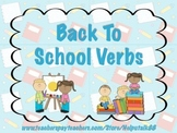 Back to School Verbs