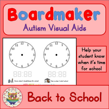 Back to School Visual Aids Clocks - Boardmaker Visual Aids for Autism