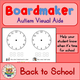 Back to School Visual Aids Clocks - Boardmaker Visual Aids for Autism SPED