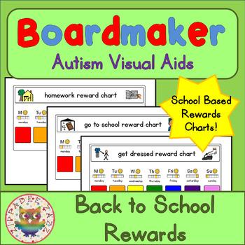 Back to School Visual Aids Reward Charts - Boardmaker Visu
