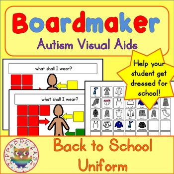 Back to School Visual Aids School Uniform - Boardmaker Visual Aids for Autism