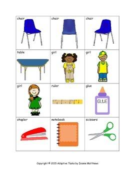 Back to School Visual Discrimination Task