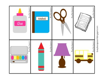 Back to School Vocab & Worksheet FREEBIE