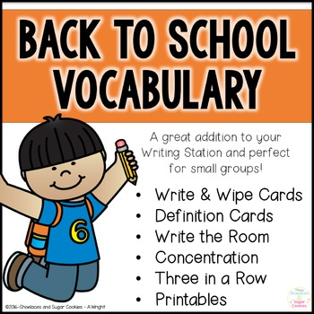 Back to School Vocabulary