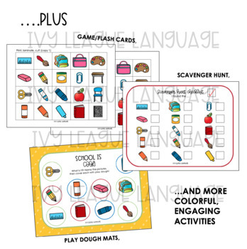 Back-to-School Vocabulary Activities