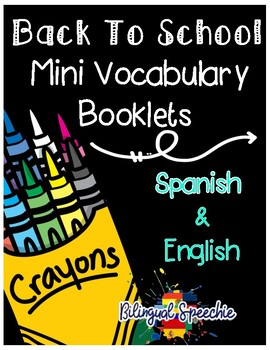 Back to School Vocabulary Booklet (Bilingual)