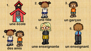 FRENCH Back to School Vocabulary Set (Grade 4&5 Core French) [PDF]