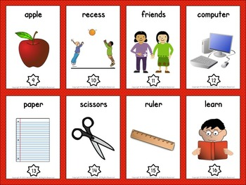 Back to School Vocabulary Trading Cards - 10+ Activities