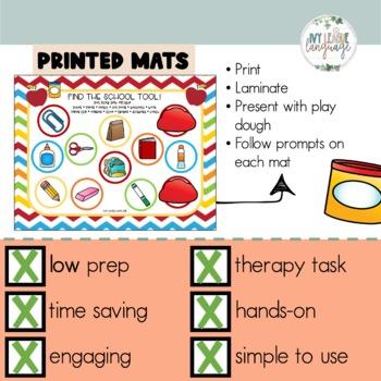 Back to School Vocabulary Play Dough Mats!