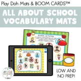 Back to School Vocabulary Play Dough Mats!