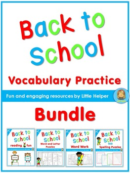 Back to School Vocabulary Practice