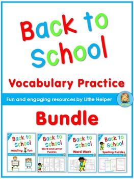 Back to School Vocabulary Practice