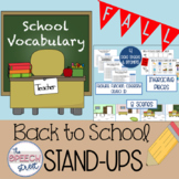 Back to School Vocabulary Stand Ups