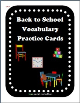 Back to School Vocabulary Writing Practice Cards