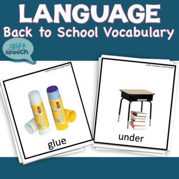 All About School Vocabulary for Life Skills (moderate to severe) Speech Therapy