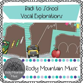 Back to School Vocal Explorations