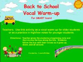 Back to School Vocal Warm-up