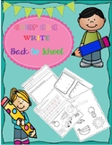 Back to School Vowels Beginning Sound and Colors write and
