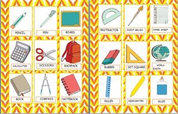 Back to School-Vuelta al cole/ English and Spanish Vocabulary