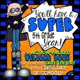 5th Grade Back to School Activities Booklet | Superhero Theme