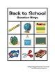 Back to School WH Question Bingo