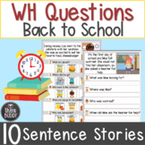 Back to School WH Questions Sentence Stories Printable Wor
