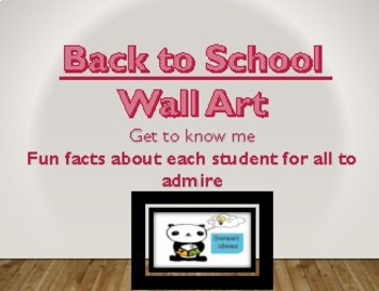 Back to School Wall Art