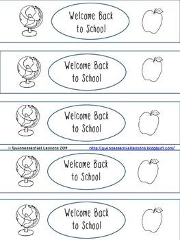 Back to School Water Bottle Label - Freebie!