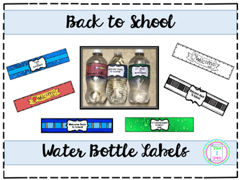 Back to School Water Bottle Labels