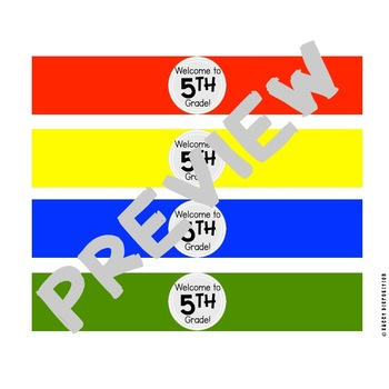 Back to School Water Bottle Labels: Pastel, Primary, and Bright Colors