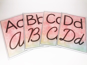 Back to School Watercolor Classroom Alphabet Posters